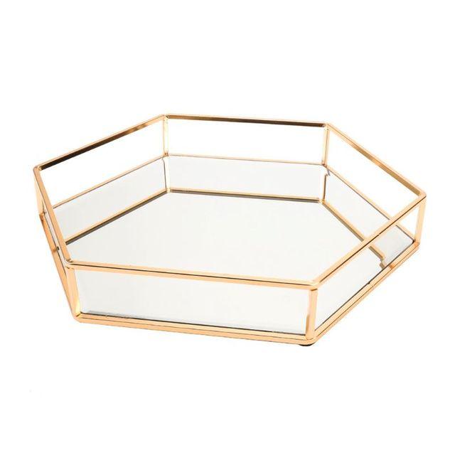 Colored mirror dresser tray