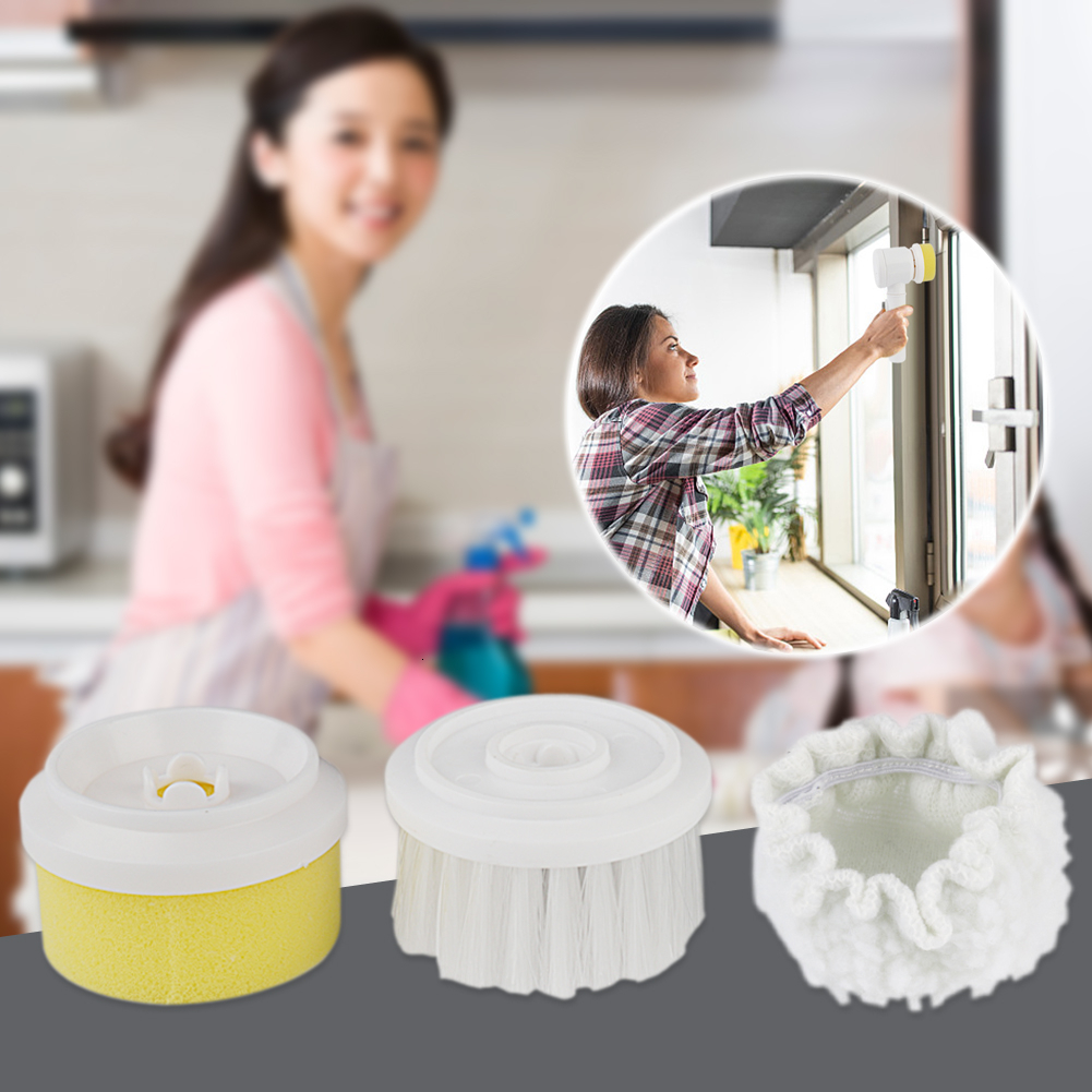 5 In 1 Handheld Electric Cleaning Brush 3 Mode Washing For Kitchen Bathroom Toile And Tub Brush Washing Brush Home Cleaning Tool