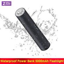 ZMI LPB02 lampe de poche Portable haute puissance 5000mAh batterie externe IPX6 étanche durgence SOS lumière extérieure haute puissance