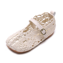 Girls Princess Shoes Summer Autumn Fashion Cut-Outs Knitted
