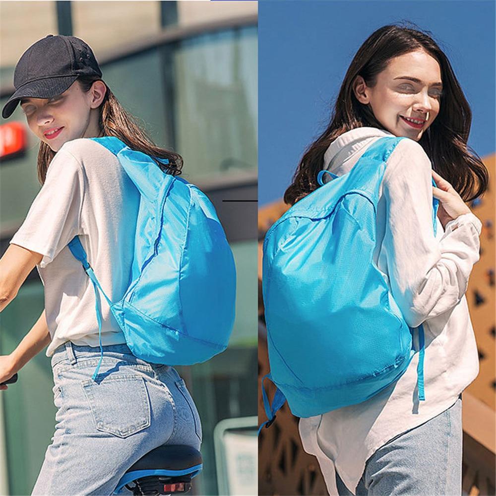 Легкий нейлон складной рюкзак водонепроницаемый мини путешествия рюкзак женщины мужчины сумка для 2020 Mochila Feminina для кемпинга