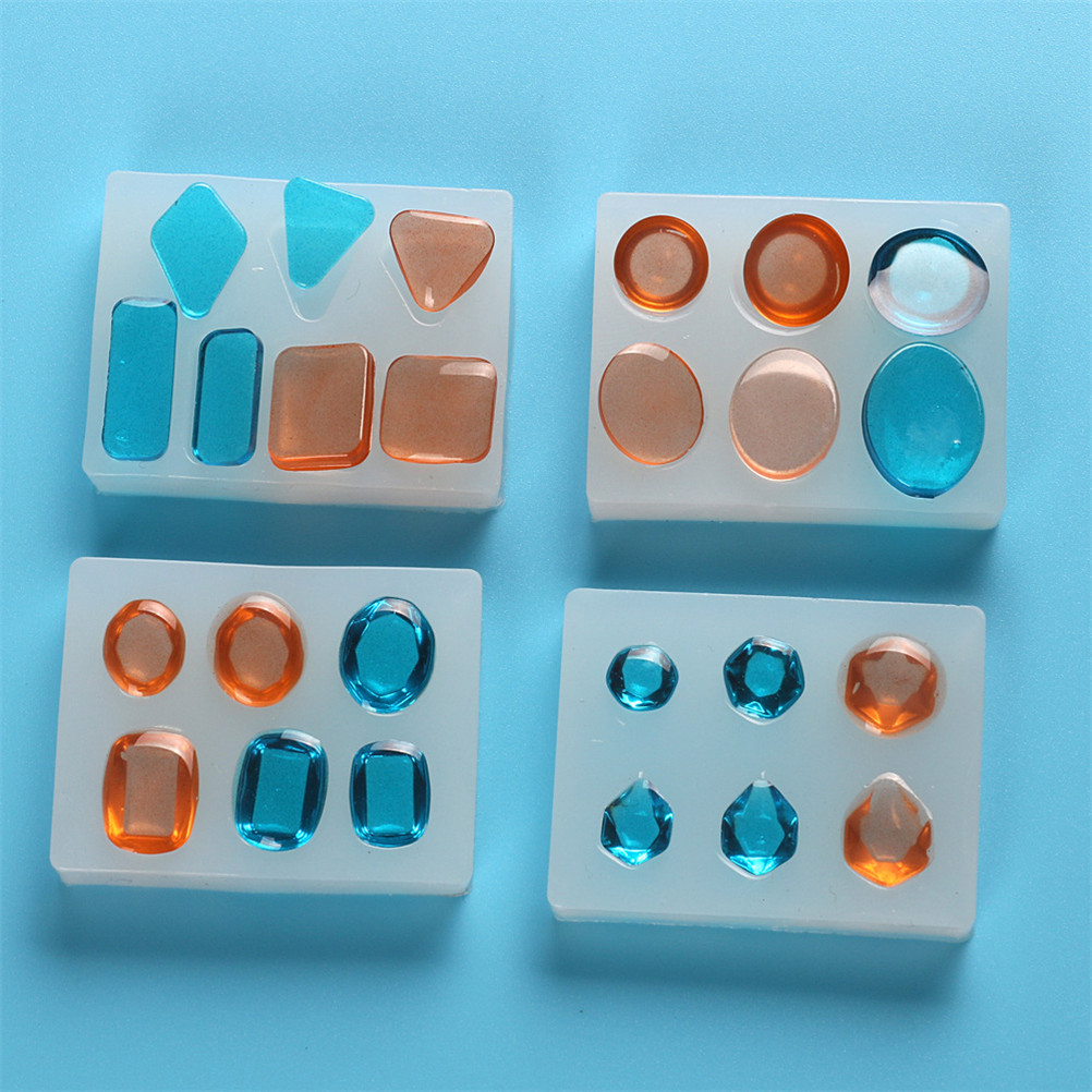 4 Styles DIY Earrings Necklace Making Jewelry 1PCS Craft DIY Transparent UV Resin Liquid Silicone Mold Pendant Charms