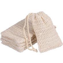 Eco friendly Sisal Soap Bag Pouch Holder Shower Bath Scraps Save Soaps Natural Fiber Bags