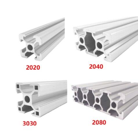 2020 2040 3030 2080 алюминиевый профиль 100 200 300 350 400 450 500 550 600 мм линейный рельс экструзии CNC 3D принтер части