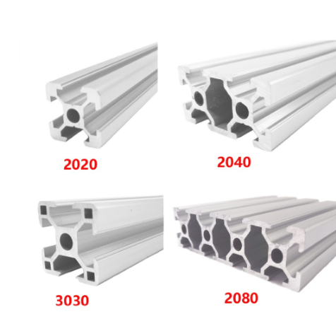 2020 2040 3030 2080 Aluminum Profile 100 200 300 350 400 450 500 550 600 Mm Linear Rail Extrusion Extrusion CNC 3D Printer Parts