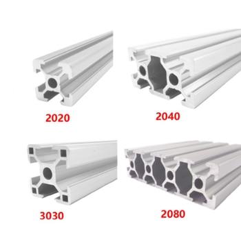 2020 2040 3030 2080 Aluminum Profile 100 200 300 350 400 450 500 550 600 mm Linear Rail Extrusion Extrusion CNC 3D Printer Parts cnc 3d printer parts 4pcs lot european standard anodized linear rail aluminum profile extrusion 3030 for diy 3d printer