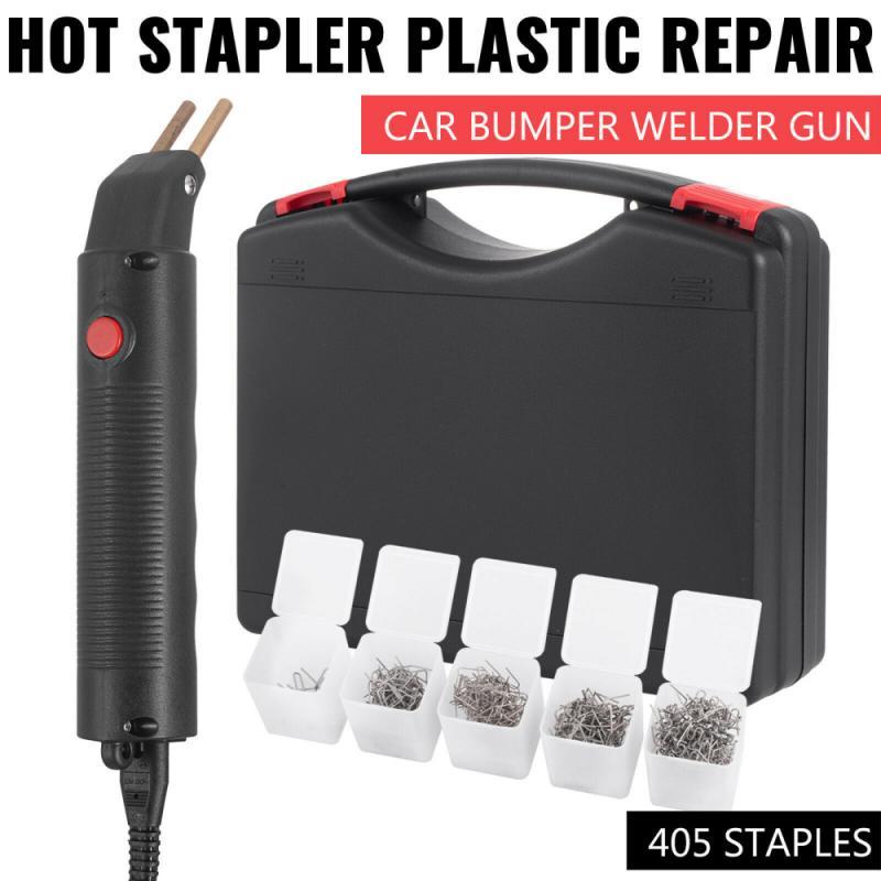 400 Staples Hot Stapler Car Bumper Fender Fairing Welding Gun Plastic Repair Kit Car Body Repair Tool Sheet Metal Repair Tools