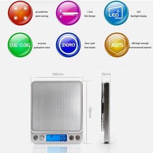 Image 3 - ميزان اليكتروني صغير محمول, 500/0.01جرام, 3000/0.1جرام بشاشة LCD لقياس وزن المجوهرات و للمطبخ و البريد