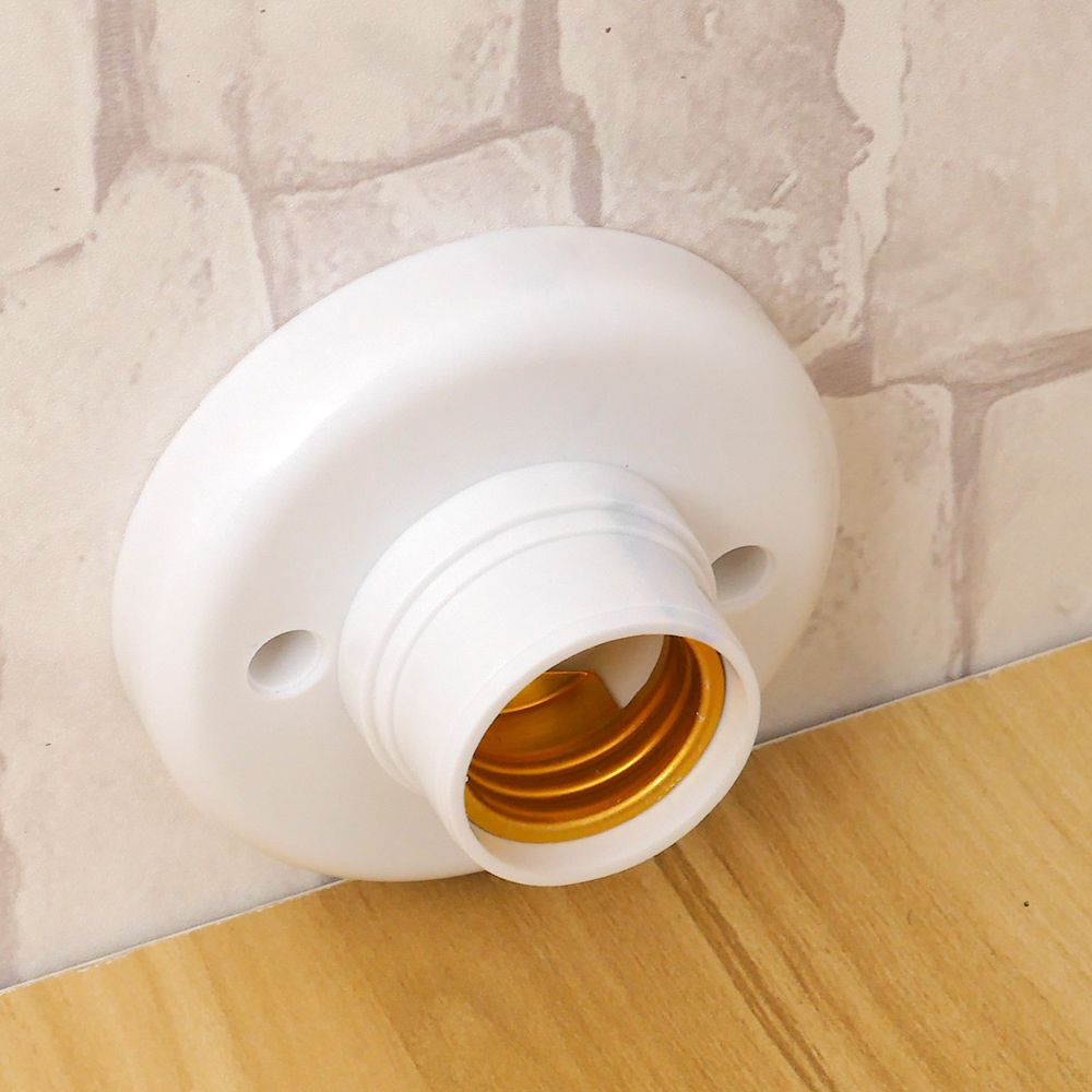 ES E27 Эдисона винт крышка гнездо белый Потолочный светильник лампа крепежная база подставка держатель лампы