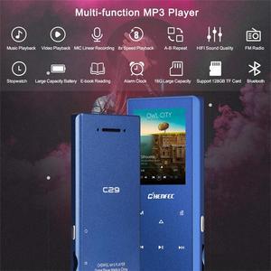 Image 2 - Yeni Bluetooth MP3 oyuncu Metal dokunmatik düğme desteği SD kart HIFI kayıpsız MP3 müzik çalar FM radyo, ses kaydedici, e kitap