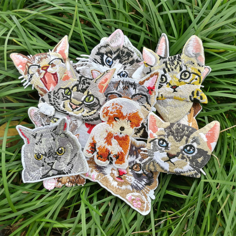 Hot-melt Cat Clothes Sticker Accessories Bags Hats Decoration Hole Patching And Decals Embroidery Patch