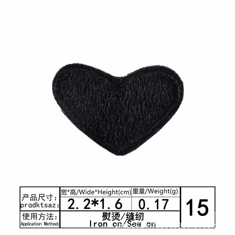 1pcs 컬러 심장 사랑 줄무늬 의류 패치에 의류 철에 대 한 수 놓은 패치 열 스티커 바느질 fusible 패브릭