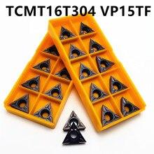 Карбид вольфрама TCMT16T304 MA VP15TF твердосплавные лезвия токарный инструмент внутренний токарный станок с ЧПУ