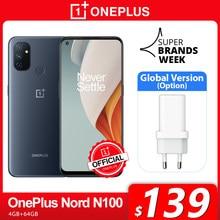 Globale Version OnePlus Nord N100 4GB 64GB Smartphone 90Hz 6.52 ''Bildschirm 13MP Triple Kameras 5000mAh 18W OnePlus Offizielle Shop