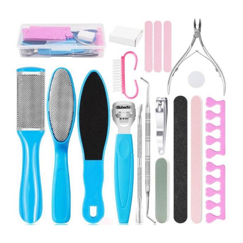 16 19 20 pcs pe purificador profissional pedicure ferramentas kit rasp pe arquivo callu removedor definir