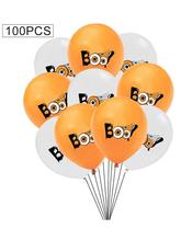100Pcs Balloons 12 Inch Thick Latex Set Party Venue Layout Props Halloween Decorations