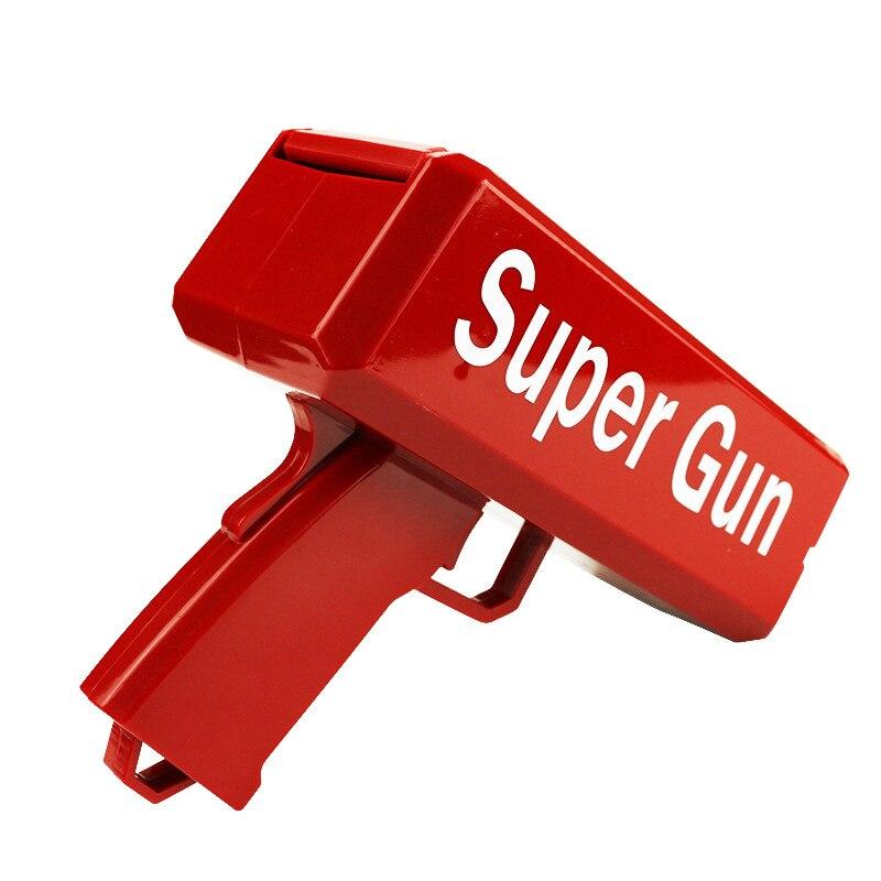 Pistola de juguete personalizada, dinero, cañón rojo, con 100 Uds. De billetes, juegos de fiesta al aire libre, regalo de moda
