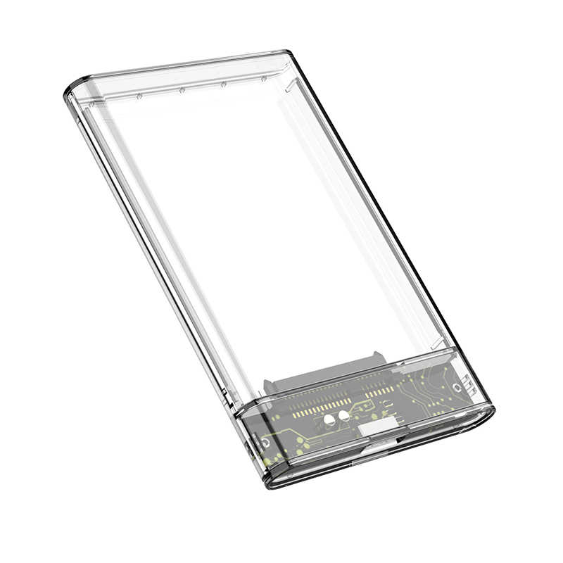 G06 usb3.0/2.0 hdd gabinete 2.5 polegada porta serial sata ssd disco rígido caso suporte 6tb transparente móvel externo hdd caso