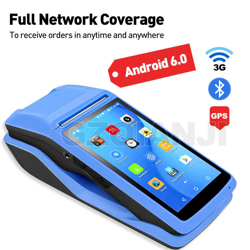 Android PDA NFC Pos Penerimaan Bill Termal WIFI Bluetooth Mobile Printer 58 Mm Nirkabel Genggam Terminal PDA Kamera Perangkat Mobile