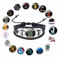 Película Riverdale Jughead Jones pulsera cosplay disfraces prop south side serpents patrón de pulsera de cristal Cadena de mano