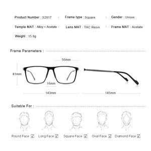 Image 4 - MERRYS تصميم الرجال الفاخرة TR90 إطار نظارات الرجال Vintage قصر النظر وصفة طبية النظارات S2817
