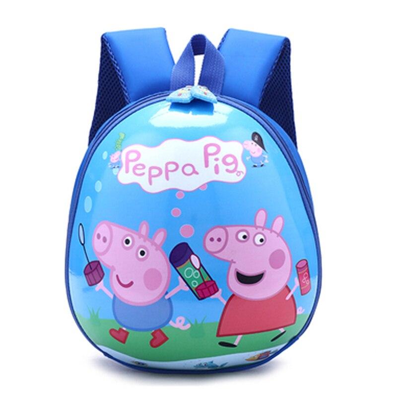 펫빠 돼지 어린이 장난감 세트 어린이 가방 학교 귀여운 배낭 유치원 소년과 소녀 배낭 생일 선물 장난감 도매