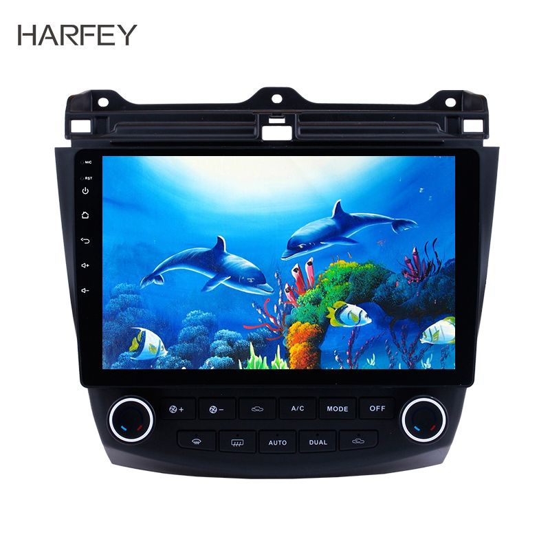 Harfey Android 9.0 10,1 ''Auto GPS Radio Für <font><b>Honda</b></font> <font><b>Accord</b></font> 7 <font><b>2003</b></font> 2004 2005 2006 <font><b>2007</b></font> Multimedia Player Touchscreen Kopf einheit image
