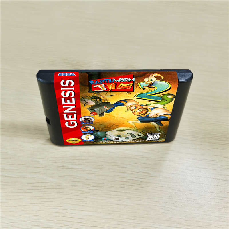 Earth Worm Earthworm Jim 2 - 16 Bit MD Games Cartridge For MegaDrive Genesis Console