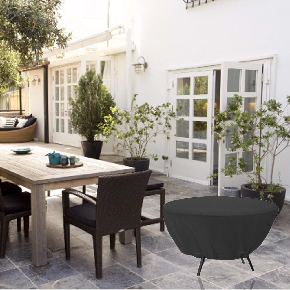 Dust Cover Outdoor Waterproof Round Table Wedding Garden Furniture Sunscreen