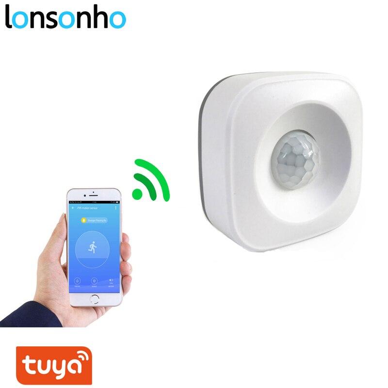 Lonsonho Tuya Smart Wifi Pir Motion Sensor Alarm Infrared Motion Detector Smart Life App