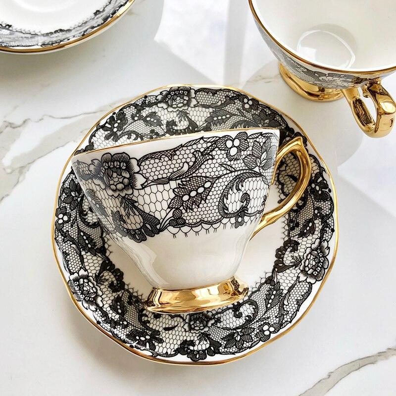 Porcelain Luxury Coffee Cup Design Art Decor Reusable Coffee Cup Set Eco Friendly Filizanki Do Kawy Family Drinkware BW50BD