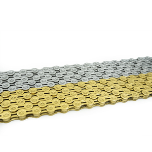 Image 5 - Rookoor Bicycle Chain 6 7 8 9 10 11 Speed Velocidade Titanium Plated TI Gold Silver Mountain Road Bike MTB Chains Part 116 Links