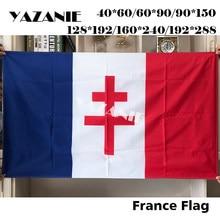 Yazanie presidencial padrão cruz de lorena carro galhardete do presidente da república francesa charles de gaulle bandeiras