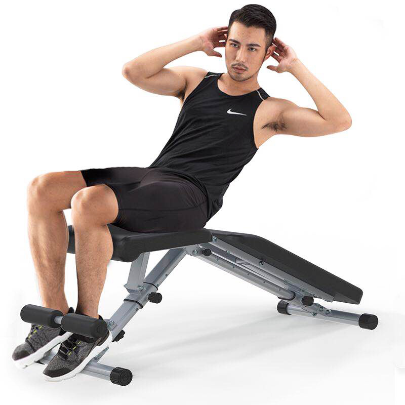 Sit-ups Trainer Sports Equipment Foldable Household Adjustable Sit Up Ab Bench Sit Up Benches Bench Press Dumbbell Stool Board