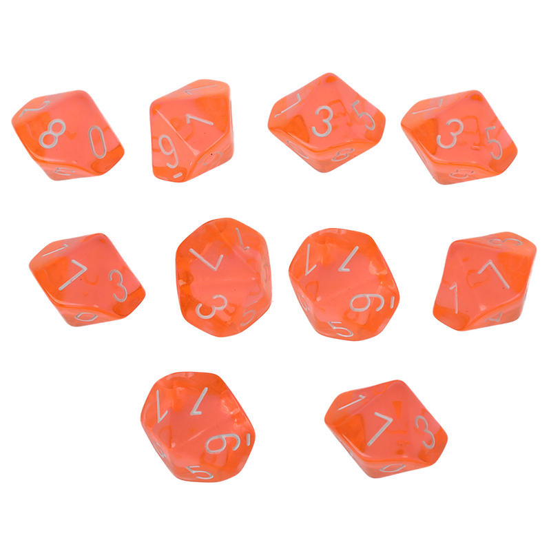 10-Dices D10 Ten Sided Gem Dice Die for RPG Dungeons&Dragons Board Table Games