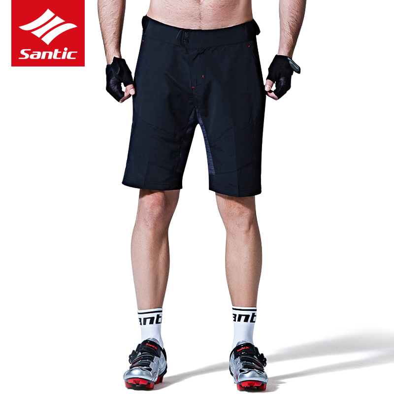 Santic Men Cycling Shorts City MTB Shorts Quick Dry Bicycle Shorts Mountain Bike Riding Short Pants For Man Cyclist Outdoor
