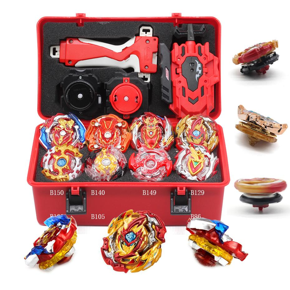 New Game Beyblade Burst Split B-149 Arena Bayblade Set Metal Fusion Combat Gyro 4D With 4 Launchers, Can Rotate Upper Blade Toy