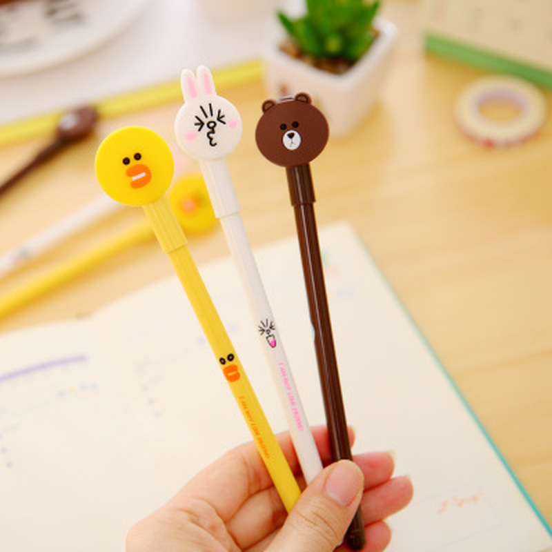 1pcs  Moe Rabbit Gel Pen 0.38mm  Cute Pens Novelty Stationery Kawaii Pen Student Cute Signing Pens Kawaii School Supplies