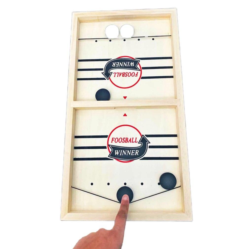 Table Desktop Battles Ice Ball Air Hockey Game Wooden Slide Pinball Bumper Catapult Chess Sports Board Game