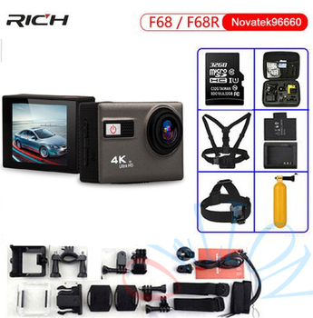 NEW Ultra HD Action Camera F68 F68R 4K 24FPS Novatek 96660 For SONY IMX078 LENS Remote Wifi Waterproof 30m Extreme Sports Camera