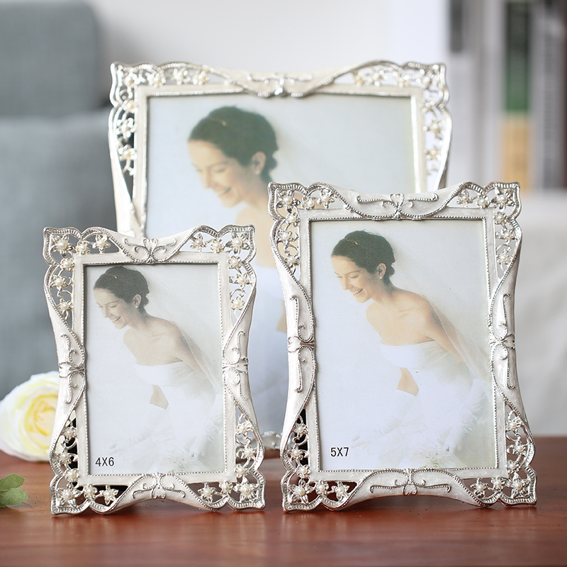 5 Picture Photo Frame Silver Crystal Photo Frame Takes 4x6 5x7 6x8 Inch Photos