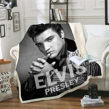 Elvis Presley 3D Blanket for Beds Hiking Picnic Thick Quilt Fashionable Bedspread Fleece Throw Blanket style-1 stranger things blanket for beds hiking picnic travel winter thick couch cover hot movies bedspread sherpa fleece throw blanket