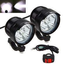 цена на 2PCS 50W 3 Modes High Low SOS 5000LM 4V-84V Motorcycle 5x XM-L T6 LED Driving Headlight Fog Lamp Spot Light With Switch