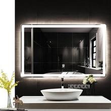 CTL305 настенное закругленное Угловое зеркало для ванной комнаты Smart HD светодиодный сенсорный переключатель Анти-туман Bluetooth зеркало для ванной 110 В/220 В