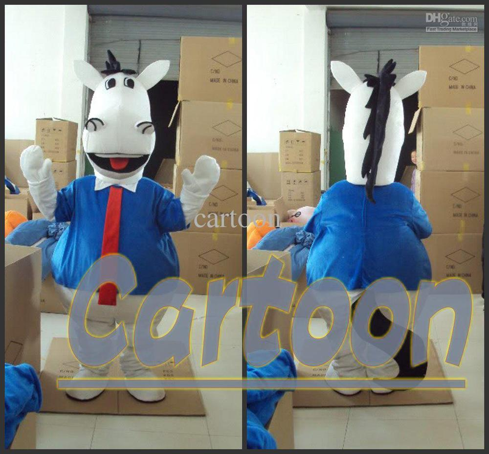 Professional the Donkey gentleman Mascot Costume Adult Birthday Party Fancy Dress Halloween Cosplay Outfits Clothing Xmas