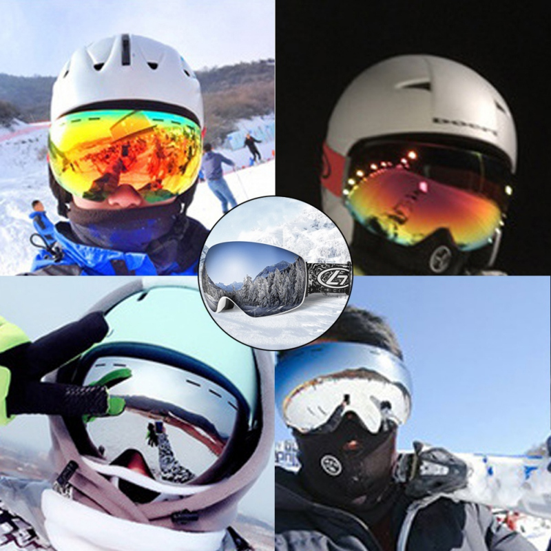 Rimless Ski Goggles Double Layers Anti-fog Big Ski Mask Glasses Skiing Snow Snowboard Goggles Eyewear Snowboard Goggles