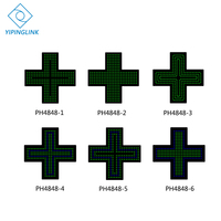 Green blue LED cross sign high brightness small size 48*48cm medical store neon cross indoor cross board