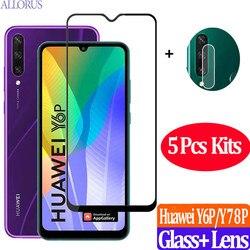 5PCS Huawei y6p folia ochronna szkło hartowane Huawei Y6P/Y8P Screen Protector telefonu Glass+Hvawei Y8/Y6 P film camera 9H okulary ochronne szklo hartowane HuaweiY6P HuaweiY8P Huawei Y 6 8 7 P 6P folie ochronne ekran