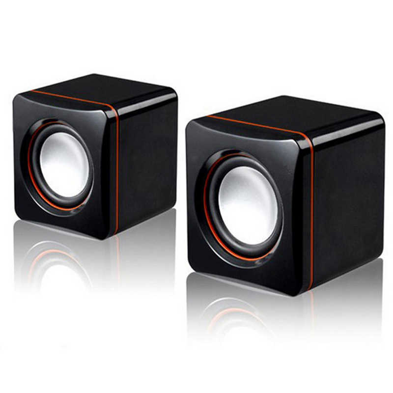 Draagbare Computer Speakers USB Powered Desktop Mini Speaker Bas Geluid Muziekspeler System Wired Kleine Mini Speaker
