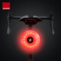 Sahoo impermeável cinta-on vermelho led segurança traseira da bicicleta luz da cauda usb recarregável para ciclismo bicicleta cauda luz traseira lâmpada acessórios